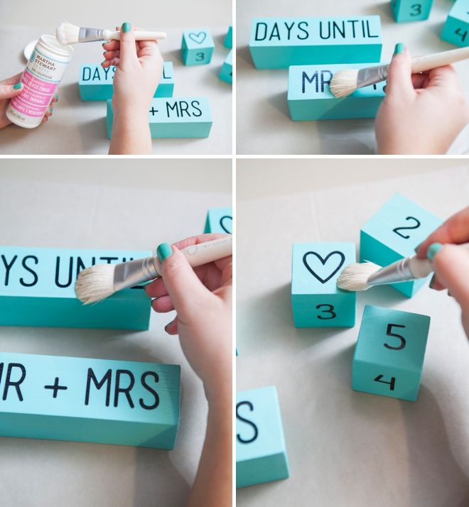 Calendar Blocks Diy : Learn how to make your own wedding countdown blocks
