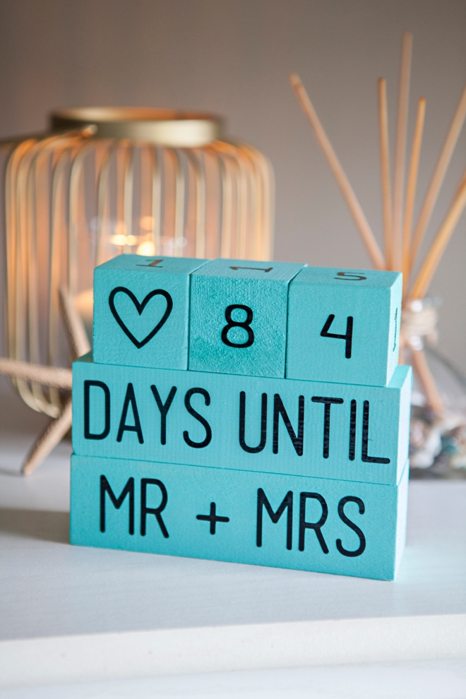 How to make Wedding Countdown Blocks