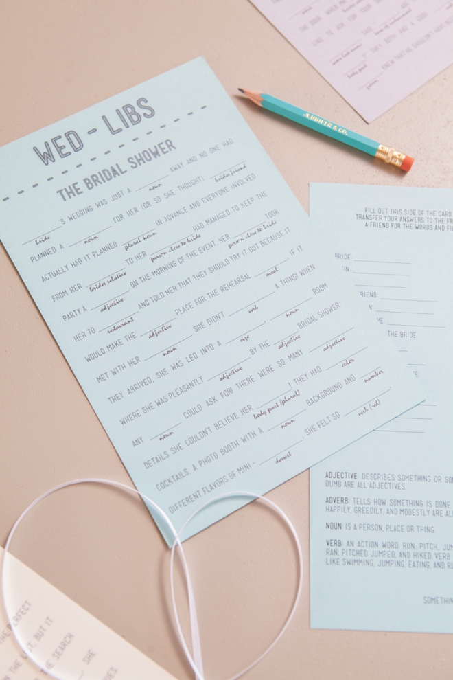 Free Printable Wedding Mad libs