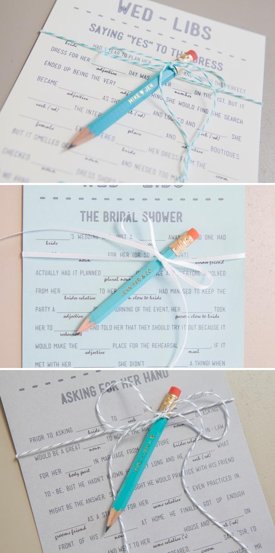 3 Free Printable Wedding Mad-libs