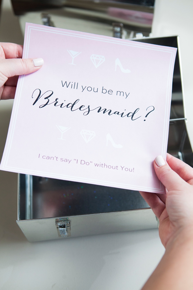 Will You Be My Bridesmaid? Lunch Box