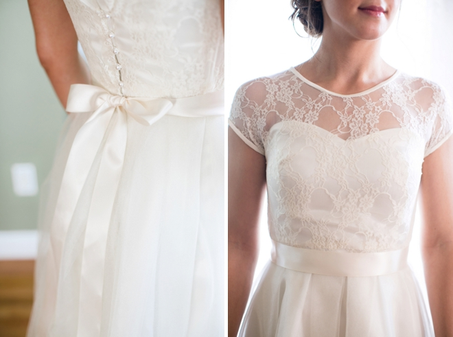 The bride wore her mothers dress