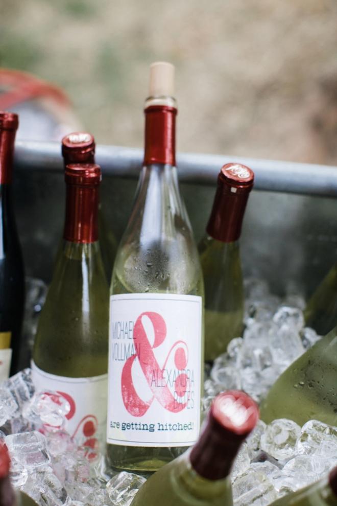 & Wine bottle labels