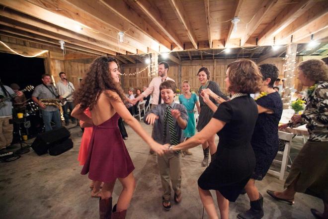 Dancing in a barn