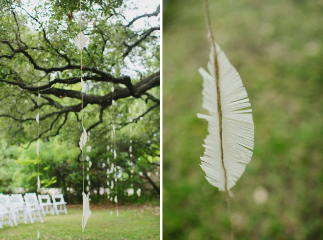 Feather ceremony backdrop