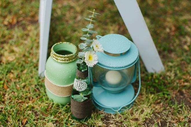 Mason jar and lantern decor