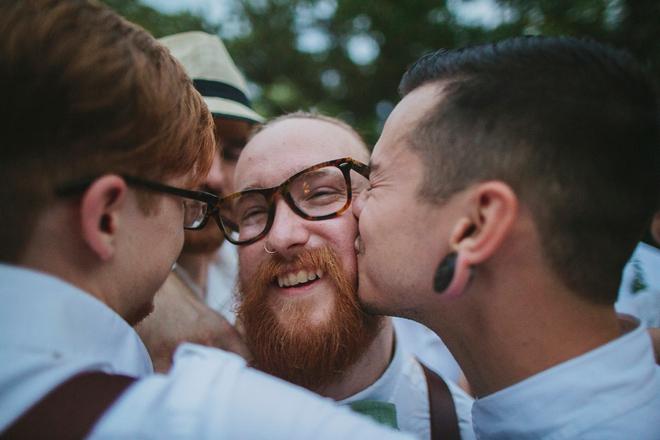 Very happy groomsmen