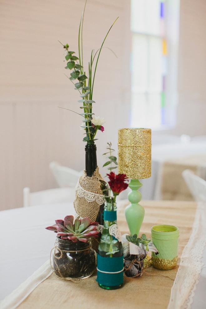 DIY boho wedding decor