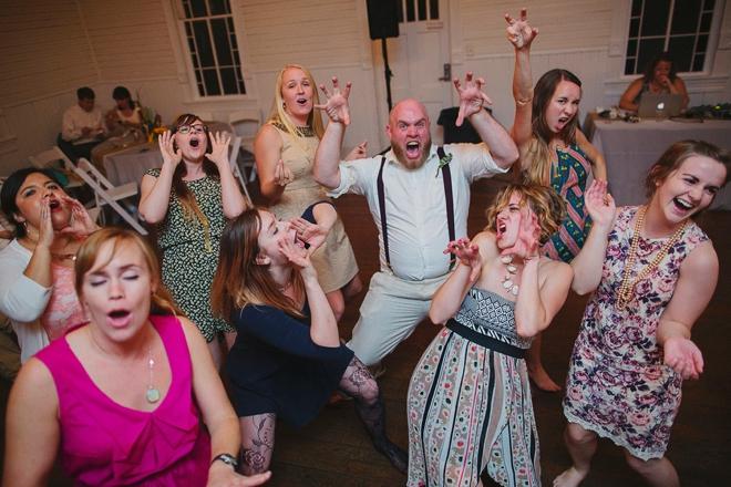 Wild wedding dancing