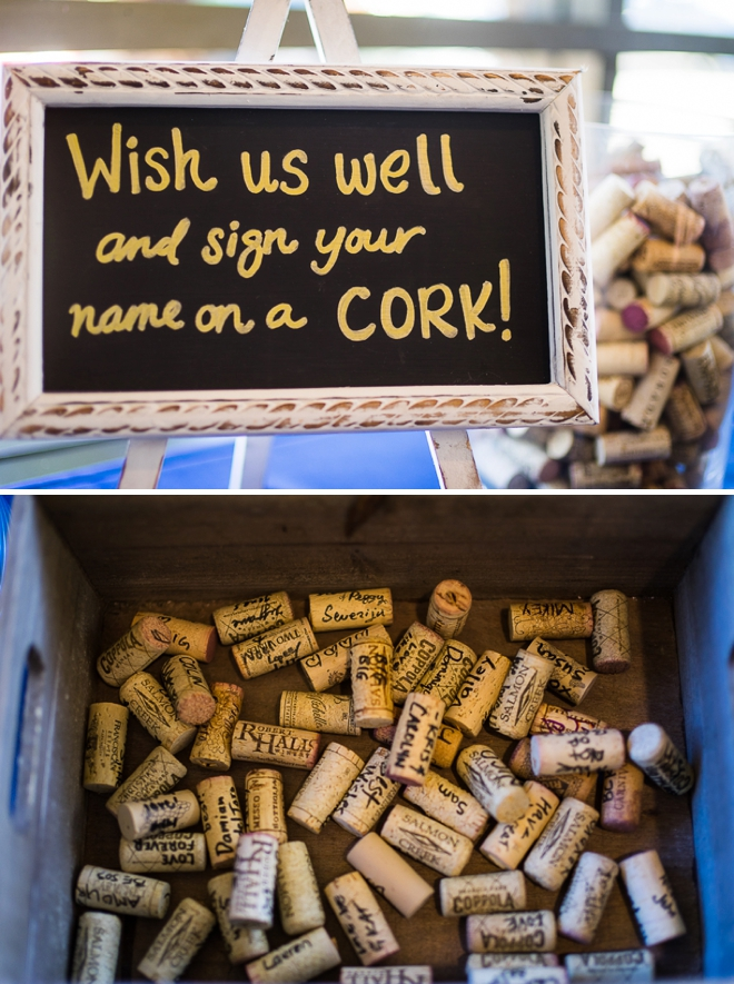 Sign a cork guest book