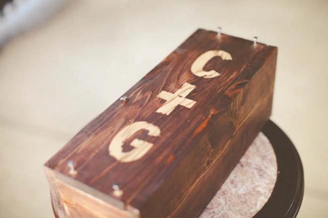 DIY Wedding ceremony wine box.