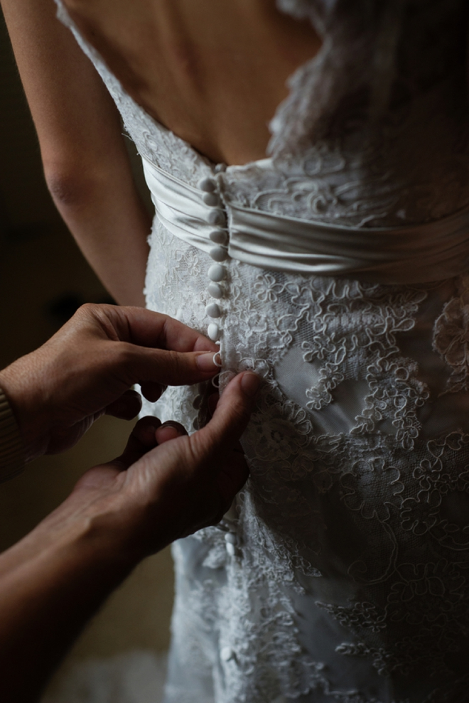 Butting up the dress