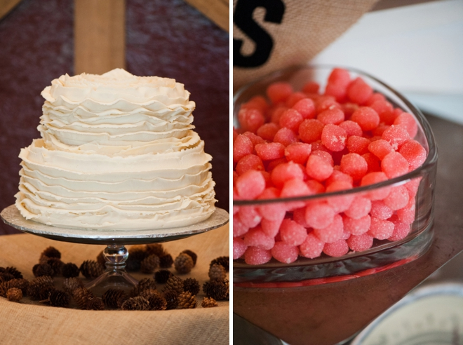 Cake + candy.