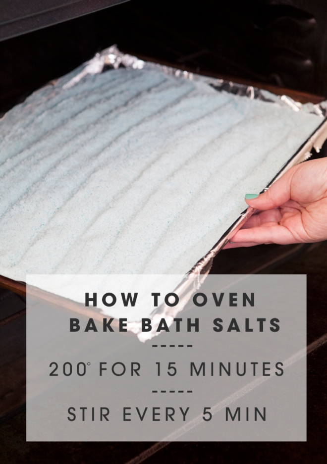 How to oven bake bath salts!