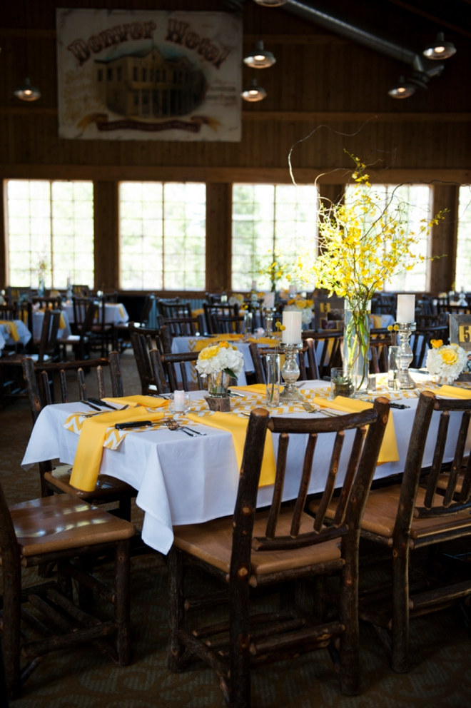 Yellow DIY wedding in Breckenridge
