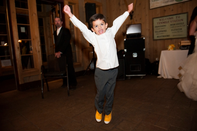 Happy little ring bearer
