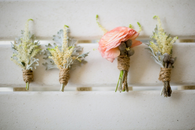 Beach wedding boutonnieres