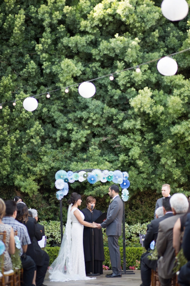 Gorgeous blue and turquoise wedding
