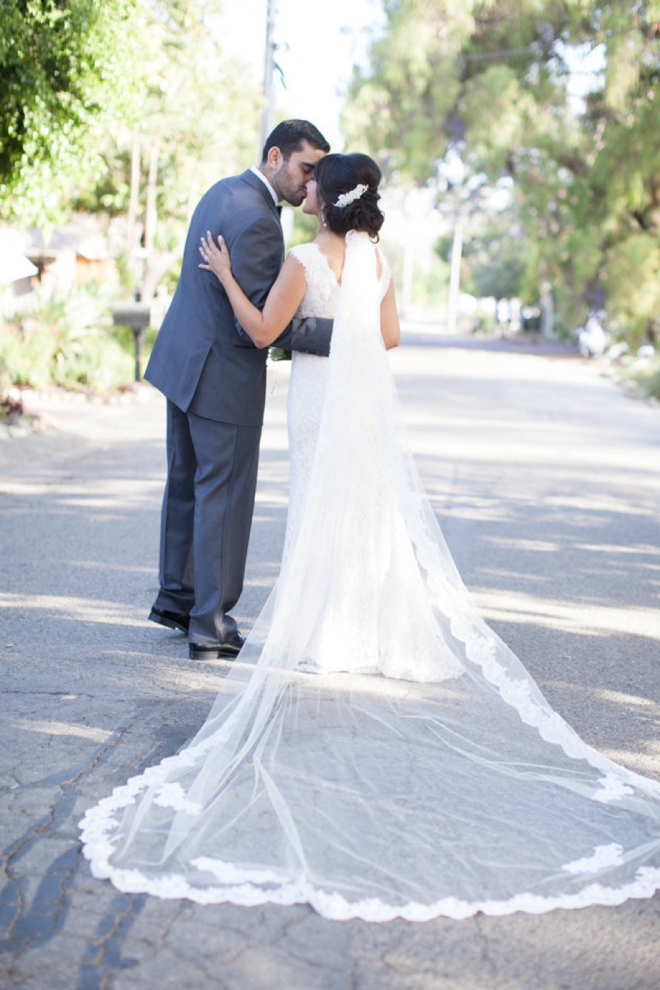 Gorgeous cathedral length veil