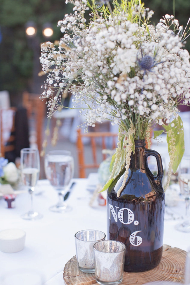 Awesome jug table numbers