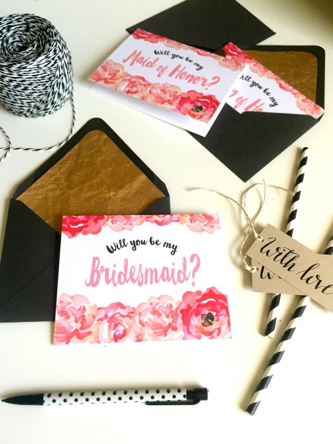 Diy Will You Be My Bridesmaid Lanelove Design