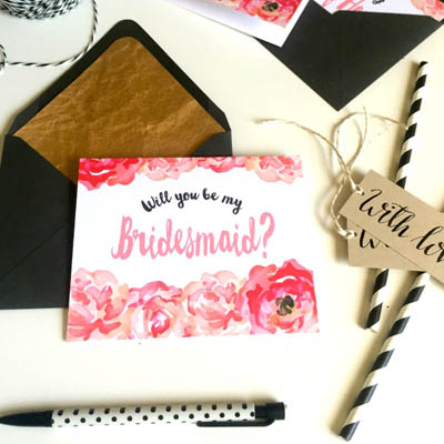 photograph regarding Will You Be My Bridesmaid Free Printable identified as Totally free \