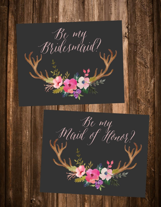 This is a photo of Peaceful Free Printable Bridesmaid Proposal