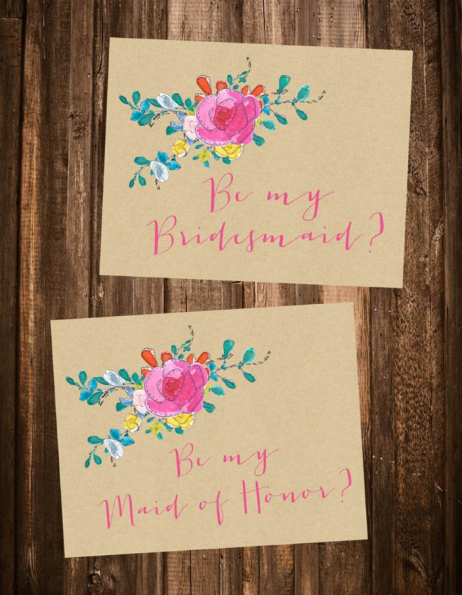 Juicy image regarding free printable bridesmaid card
