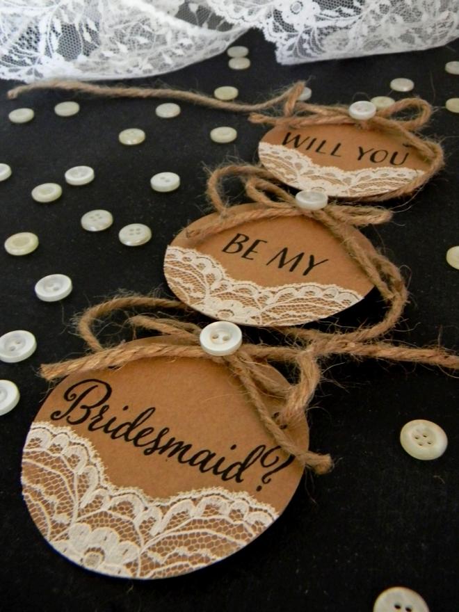 Free Will you be my Bridesmaid circle cards