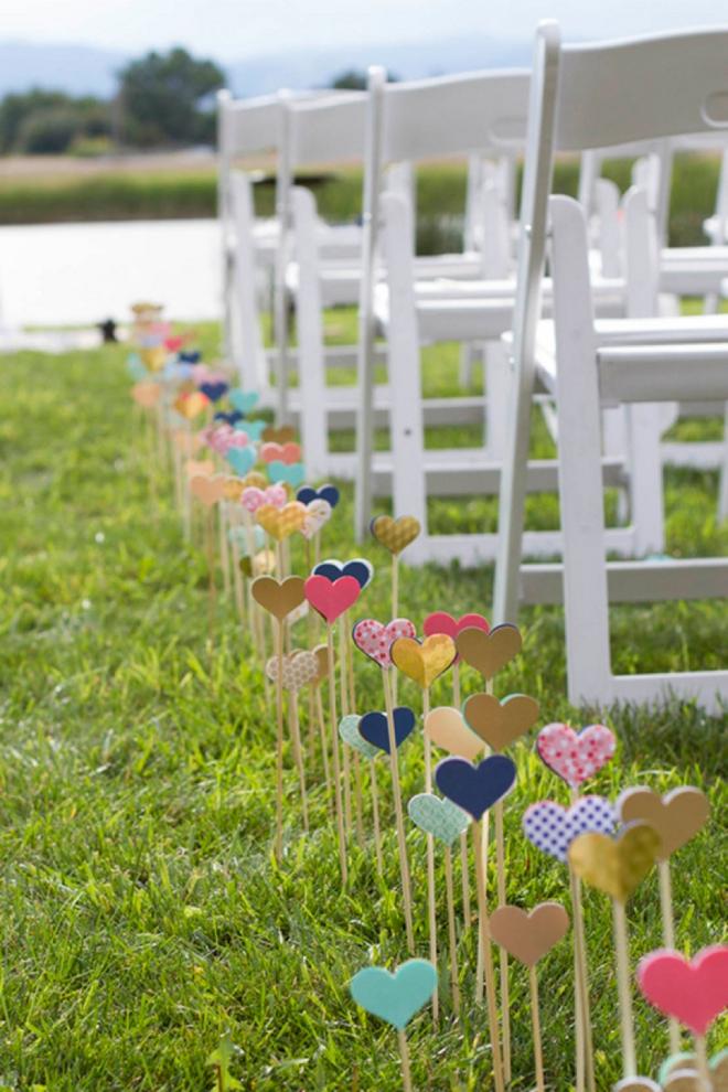 heart wedding aisle decor