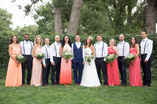 Stunning bridal party