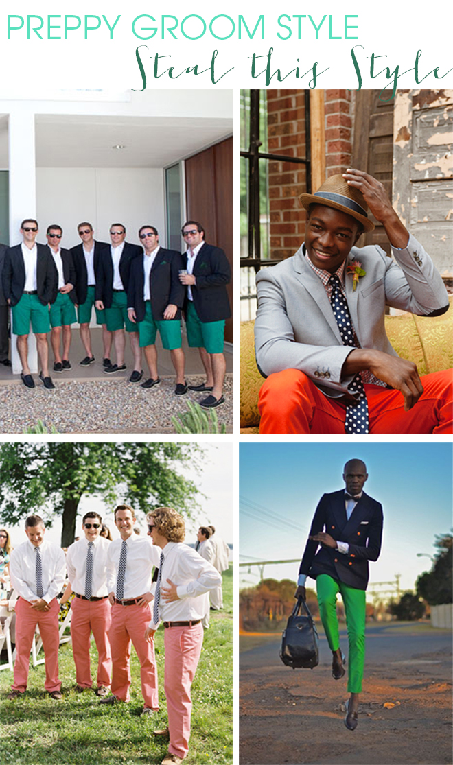 PREPPY GROOM STYLE INSPIRATION