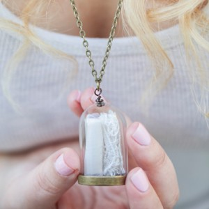 DIY Wedding Dress Keepsake Necklace