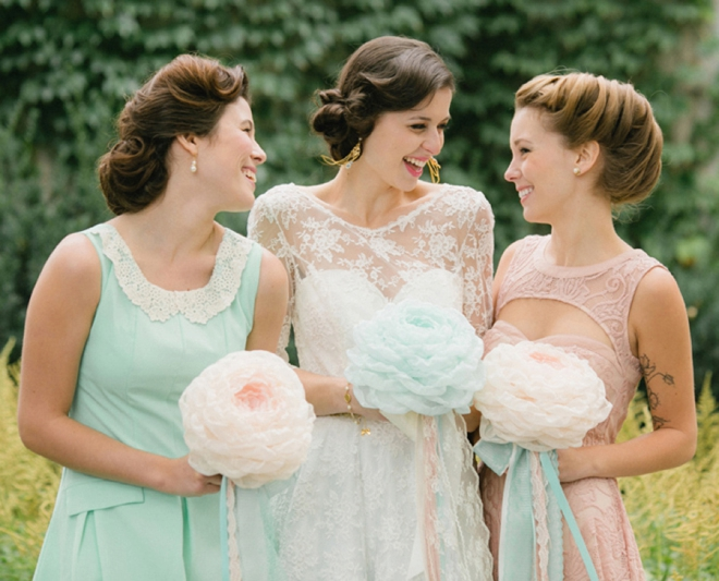 Mint And Pink Vintage Style Bridal Shower
