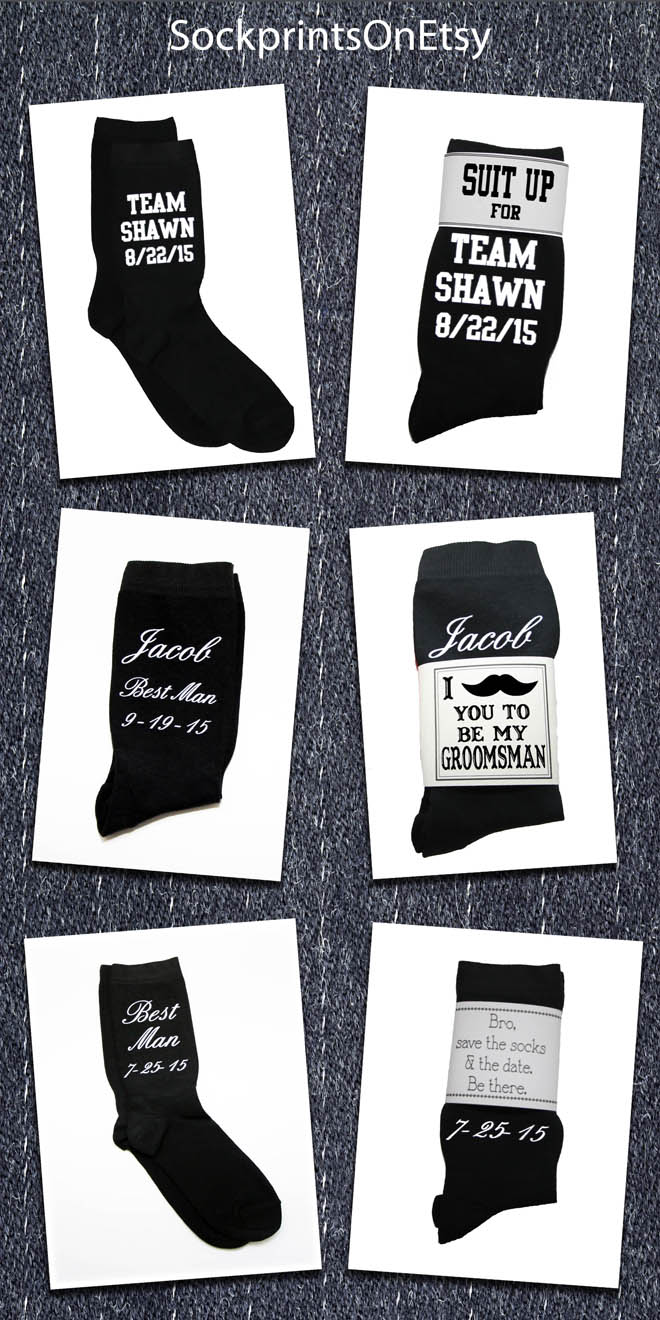 Free groomsman sock printable cards