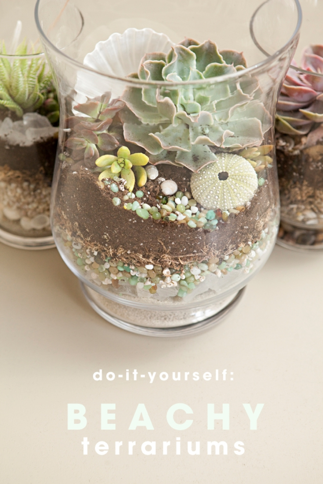 DIY Beach Wedding Terrariums
