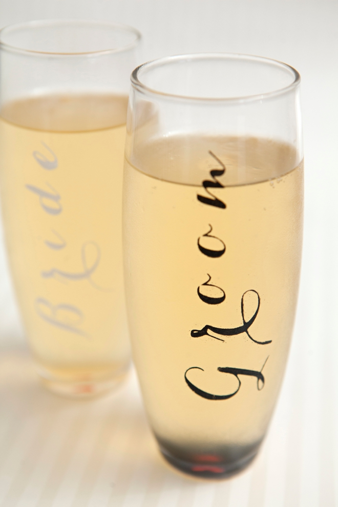Weddings Www Evermine Diy Bride And Groom Champagne Gles