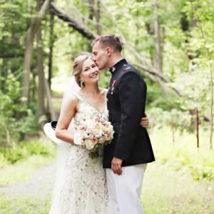Gorgeous DIY military wedding
