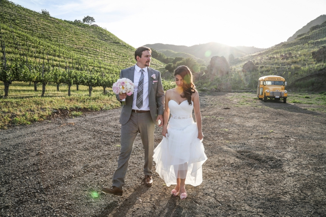 Lovely DIY vineyard wedding