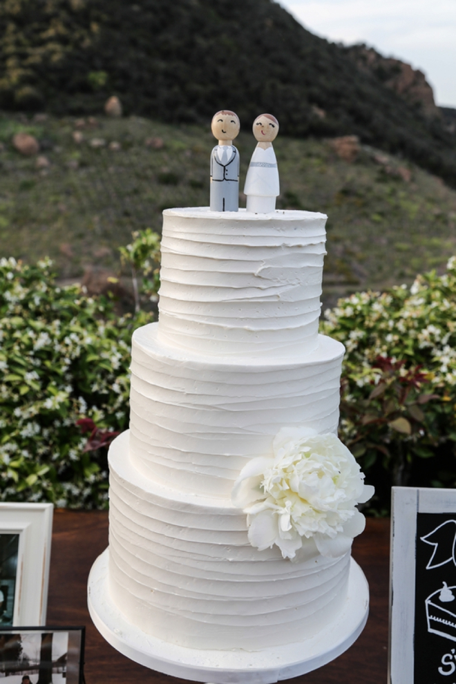 Darling wedding cake