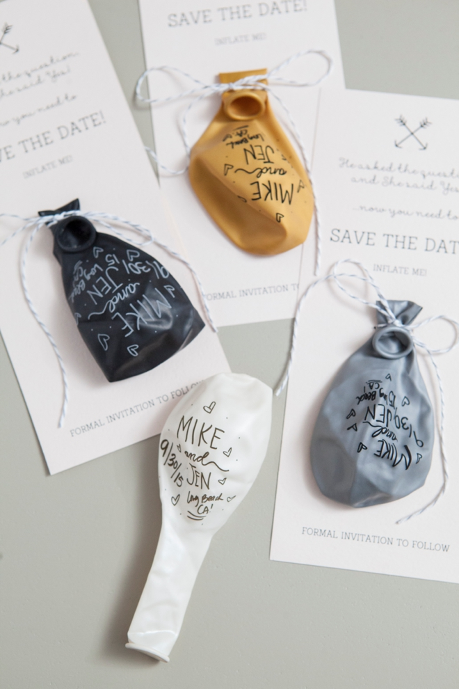 DIY - Sharpie Balloon Save the Date Invitation
