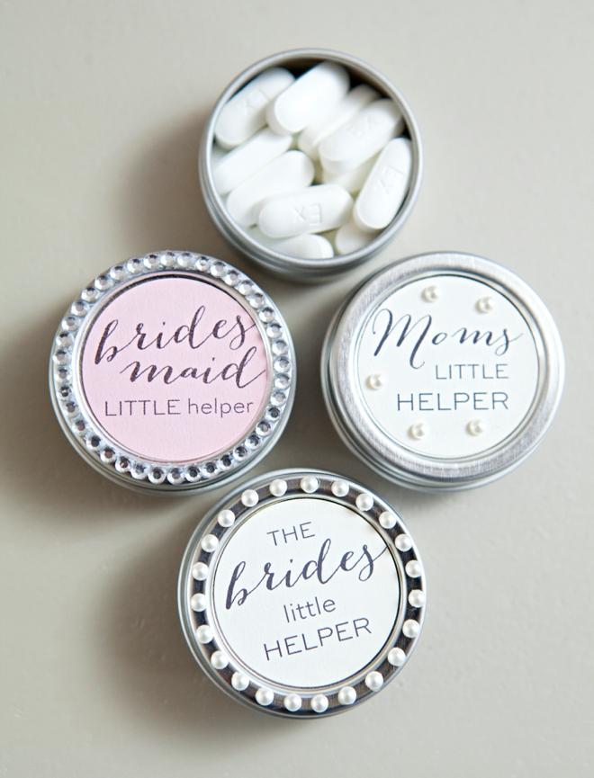 DIY bridal pill box gifts