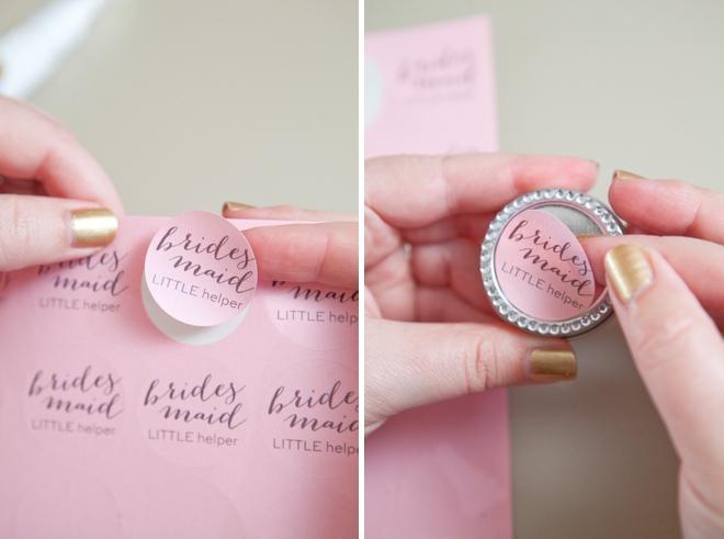 DIY wedding pill box gifts