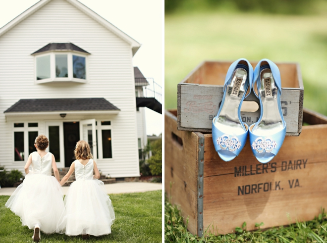 Shoes and flower girls