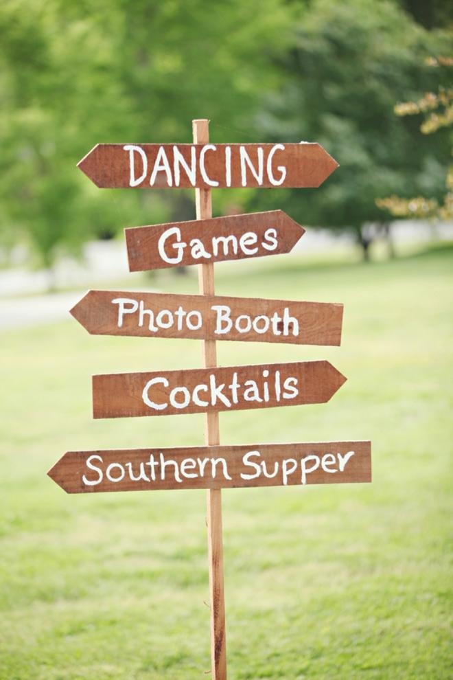 Wedding directional sign