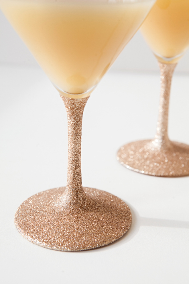 Glitter cocktail glasses