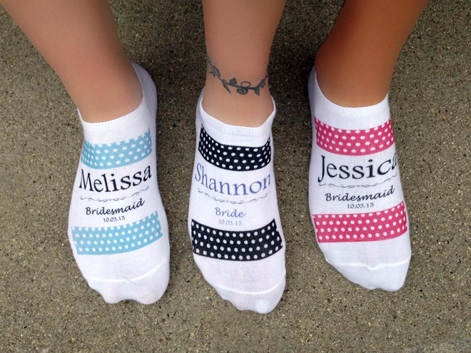 Custom bridal party socks