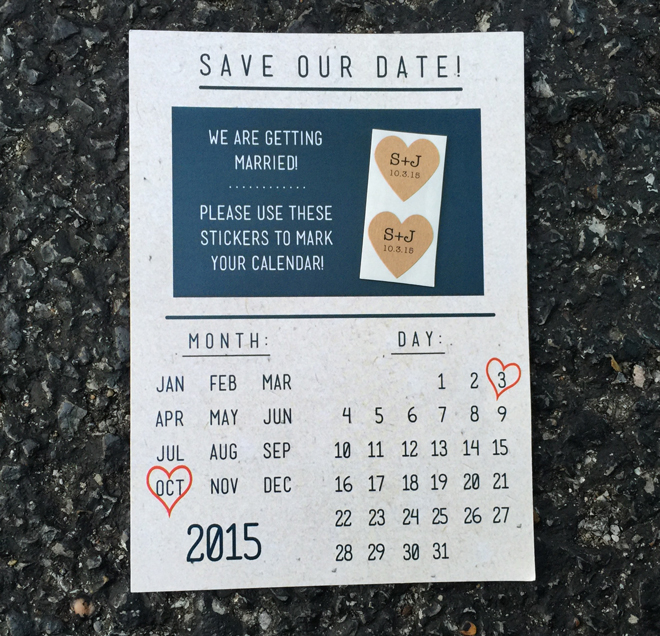 DIY Save the Date invitation