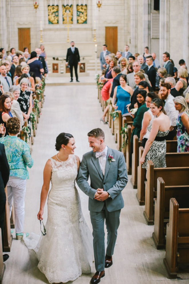 Beautiful recessional shot