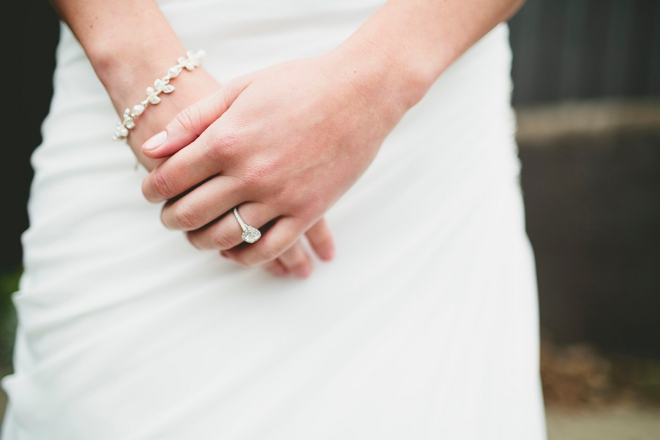 Wedding ring and bracelet